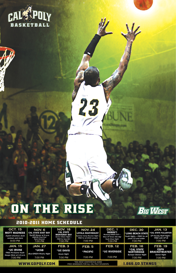 Cal Poly San Luis Obispo Men's Basketball Poster 2010