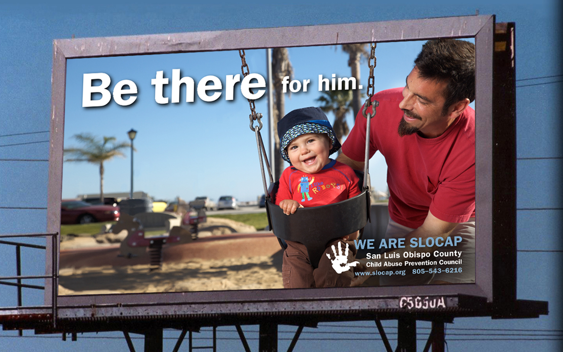 This billboard concept was designed for the non-profit organization San Luis Obispo Child Abuse Prevention Center.