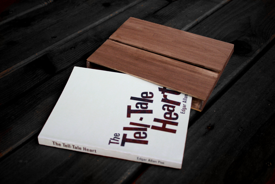 Tell-Tale Heart book cover and sleeve design.
