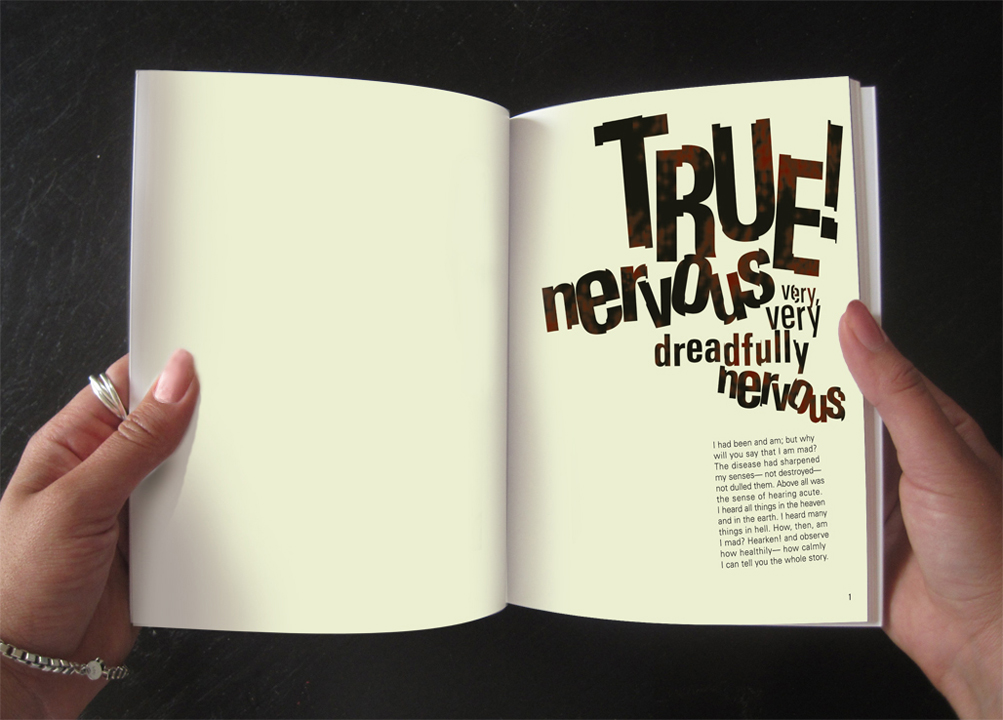 Spread from Tell-Tale Heart book design.
